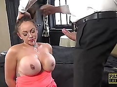 Hardfucked subslut gagged added to punished
