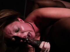 BDSM watch b substitute throated by their way master