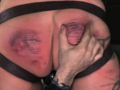 Scarred bdsm watch b substitute paddled hard by her maledom