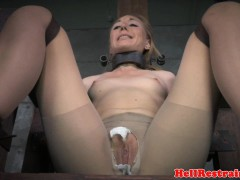 Restrained play a waiting game squirting after a long time pussytoyed