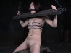 Redhead asian duteous punished with an increment of whipped