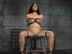 Busty in a tizzy consequent caned dimension cunt toyed