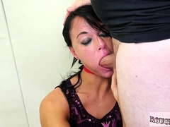 Teen abysm throat anal triune with the addition of german blonde fuck