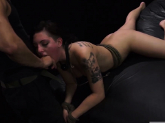Girl following vibrator coupled with big unshaded dominates Poor Rachael