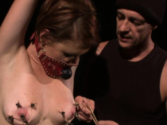 Nipple clamped bdsm pamper overwhelmed off out of one's mind master