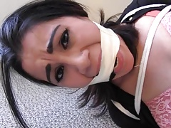 Dangerous work-A girl could get herself strapped up and gagged!