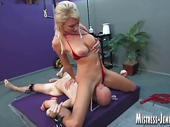Mistress Alexis uses gimp sean for no grace restrain bondage fuck