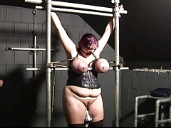 Roped meaty boobs, globes torment