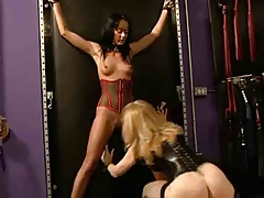 All girl BDSM ejaculation