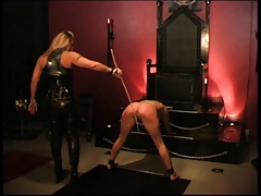 dominatrix educates her gimp lady