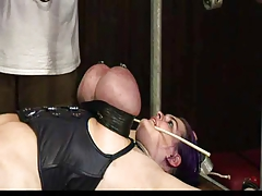 Domination & submission ample tits corded up