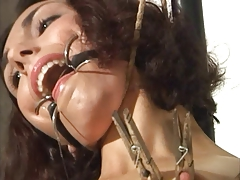 ring gagged marionette  vagina rope