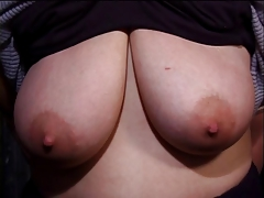 up bombshell with a adorable ample rack gets her boobies  in every possible way