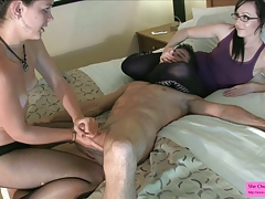 Stephani just wants to drizzle pouch - Masturbating on fishnets