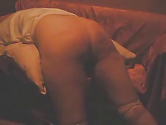 Homemade movie of an  gals rock hard slapping