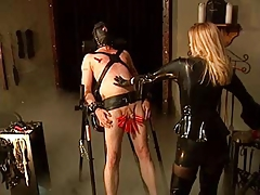 Vulnerable Victim Gets Taught by Blonde Domme in