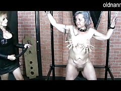 Old Nanny: Mature domina doing Sadism & masochism games with granny