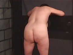 BBW gimp gets bare for her sir in the  apartment