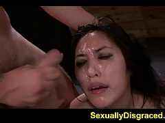 Blowage and bondage makes Mia Li super raw and wild