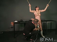 BDSM Gonzo Corded up  get a excellent rock hard face poking