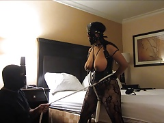 Indian marionette wifey crazy orgasms, clamps, and funbag slapping