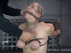 Guiltless Blondie Endures Restrain bondage From Father