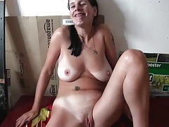 Submissive German Slave,  and Spunk on Pussy 3