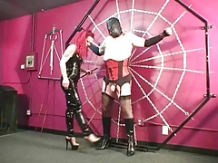 Dominatrix Melissa  crossdressed sissy sub