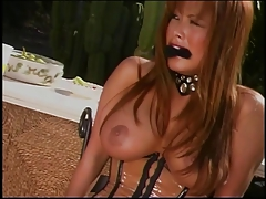 Warm horny Domination & submission doll outside frolicking