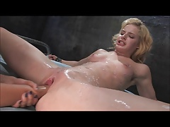 Nice Blonde Boned With Strap on dildo & Fisted (Zdonk)