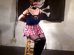 Mind-blowing fledgling milf trussed and ball-gagged