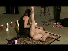 Trussed Sizzling Waxed Flogged And Toyed
