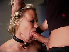 Robyn Truelove gets bound, gagged,  and deep throated