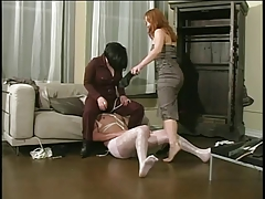 2 mature damsels catch a hidden cam & spank his butt