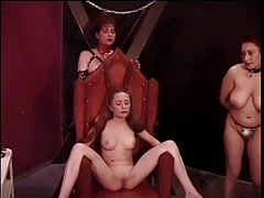 Promiscuous redhead is tantalized by  older doms
