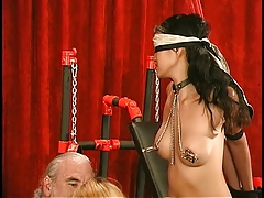 young asians with clipped tits get  and roped together