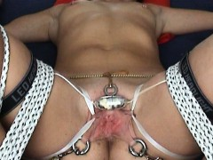 Extraordinary Tormented 299 Orgasms  Massager roped Jewel