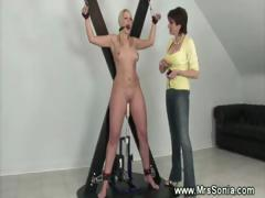 Mistress fond of machines for chicks