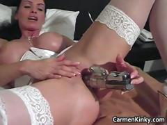 Juggs Carmen fornicate her insane snatch part3