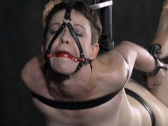 Gagged marionette  and finger-tickled deeply
