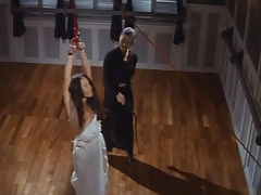 Brutish chinese lezzy whipping