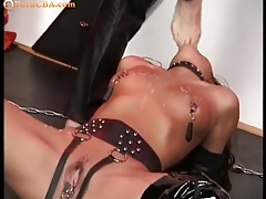 Youthful slave home sex
