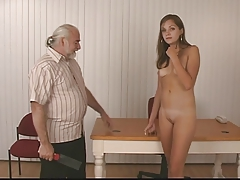 gorgeous  unclothes for old stud who whips her rock hard lush bum