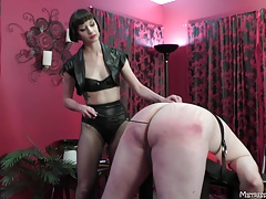 Female dominance with ache pig shoes cbt smacking