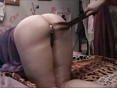 Enema and smacking while retaining