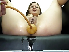 Miss April  A Huge Soapy Enema With The Bardex