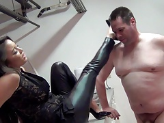 Justene face slapping,  use, Asian, Female domination