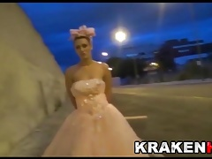 Krakenhot - Public submission with a Stiff Bride Outdoor Sadism & masochism