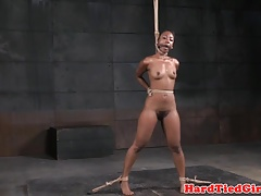 black sub flogged by her male domination