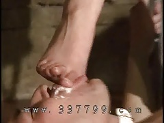 Female domination gets  water on the face of sub